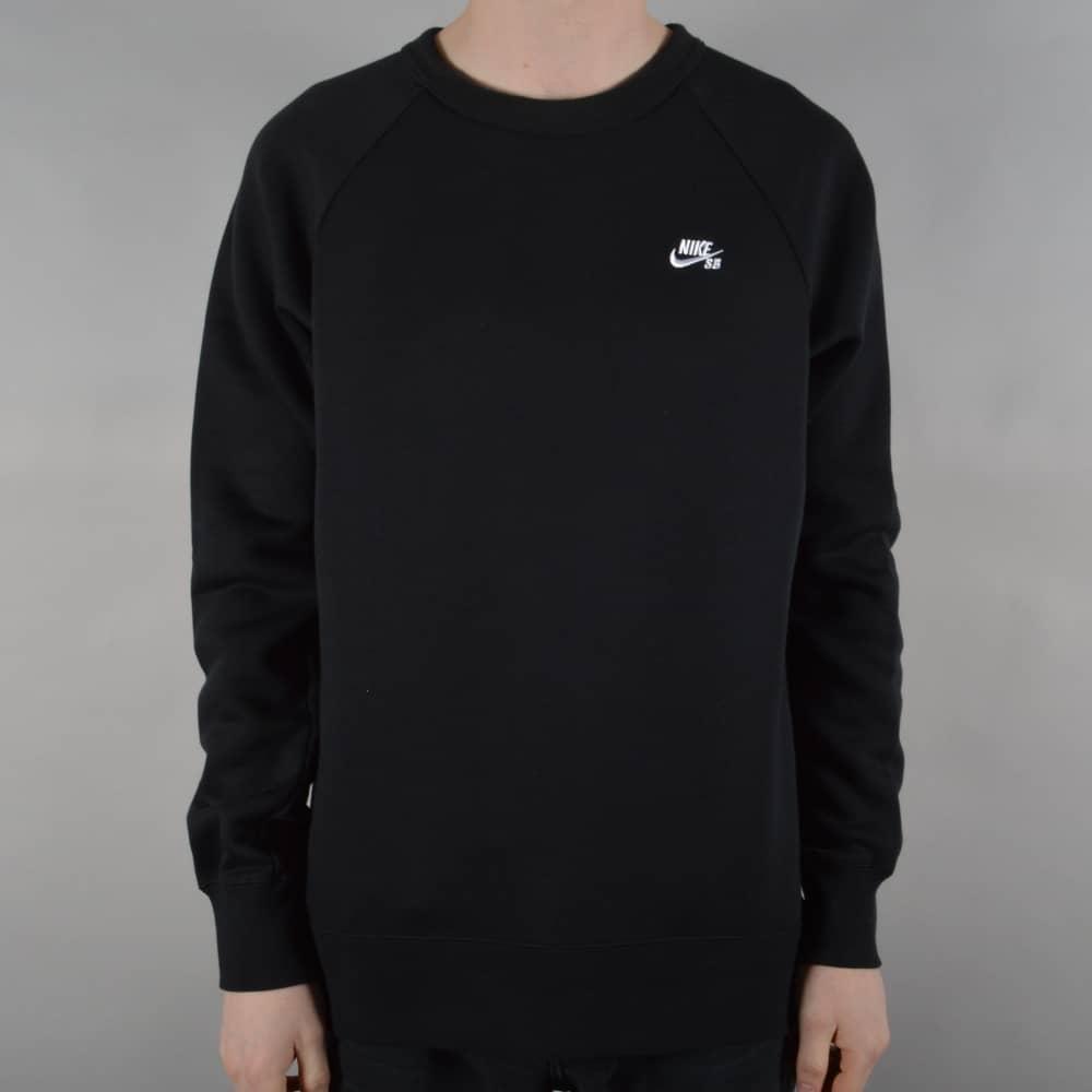 Icon Crew Fleece Sweater Black