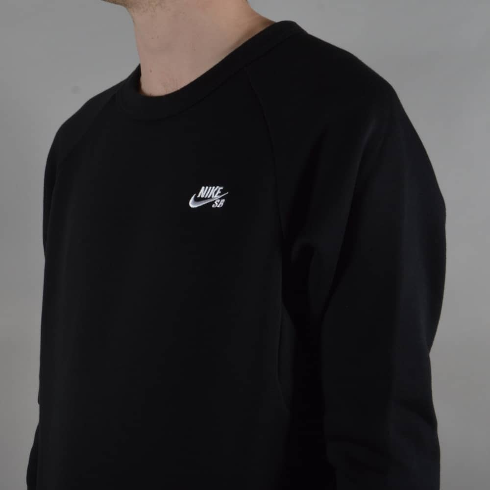 c16567153 Nike SB Icon Crew Fleece Sweater - Black - SKATE CLOTHING from ...