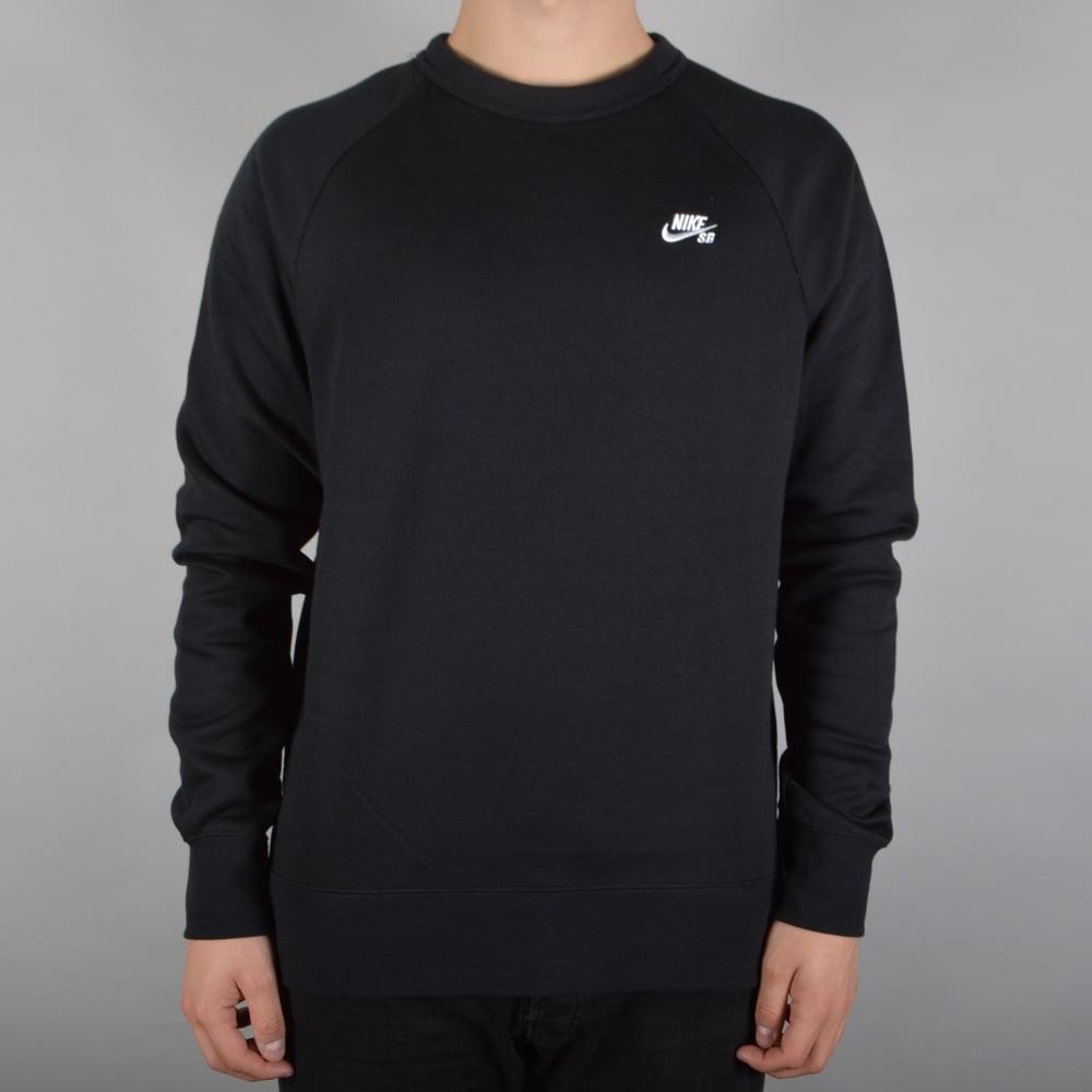 904e98053 Nike SB Icon Crewneck Fleece - Black - SKATE CLOTHING from Native ...