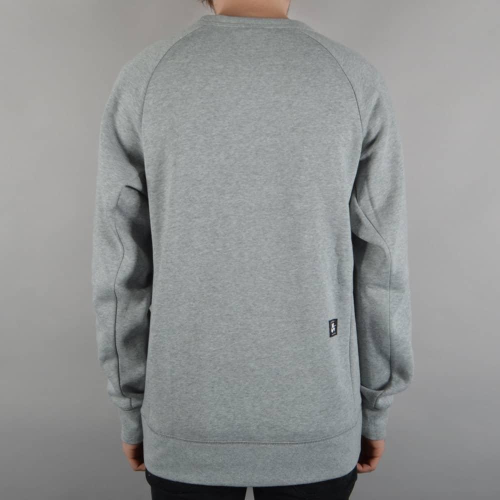 22f28fb08 Nike SB Icon Crewneck Fleece - Dark Grey Heather/Black - SKATE ...