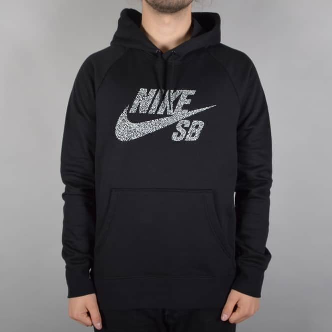 Nike SB Icon Dots Pullover Hood - Black
