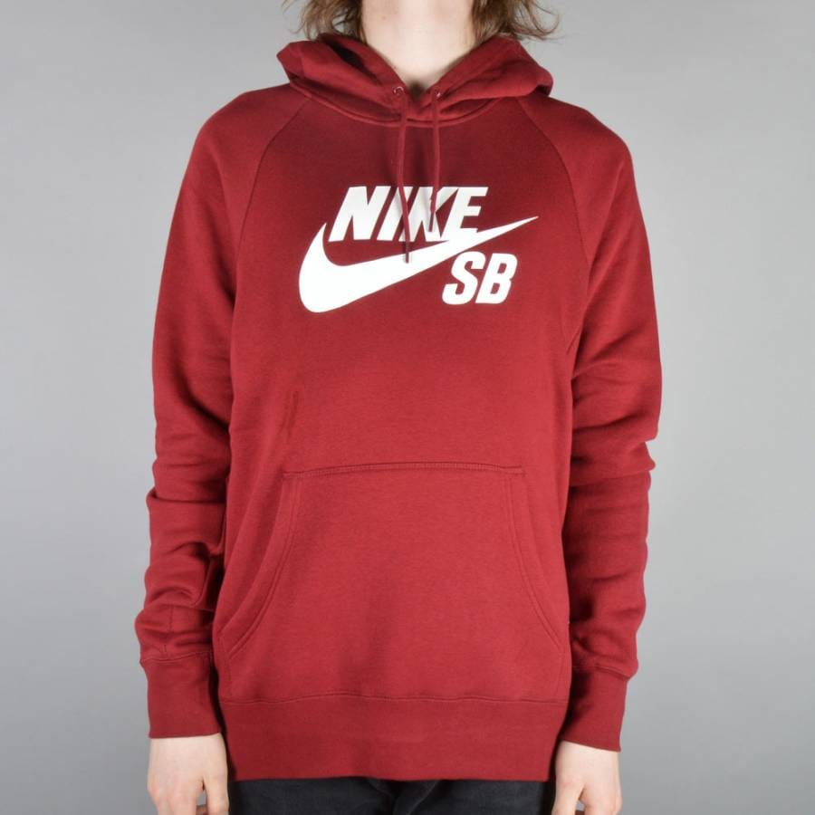 nike sb icon fleece pullover hoodie team red white. Black Bedroom Furniture Sets. Home Design Ideas