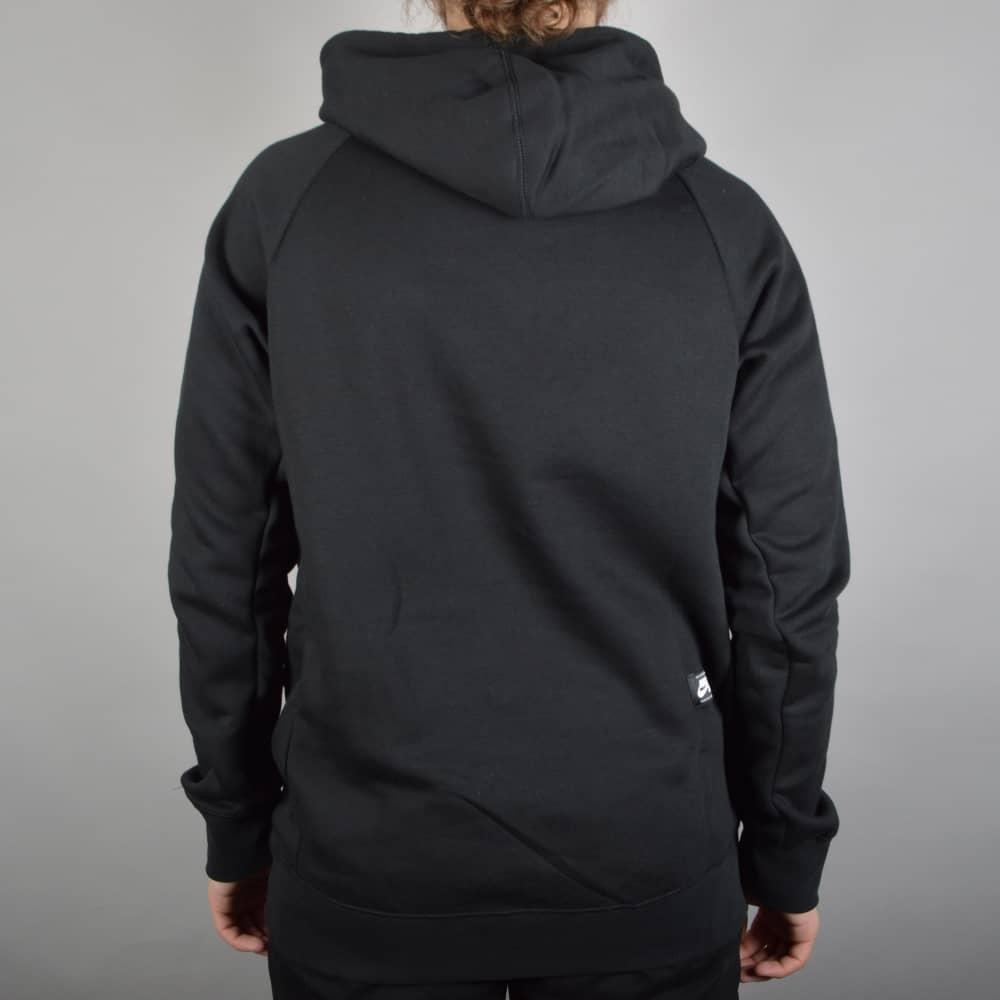d163aa13fbbc Nike SB Icon Grid Fill Pullover Hooded Top - Black Metallic Silver ...