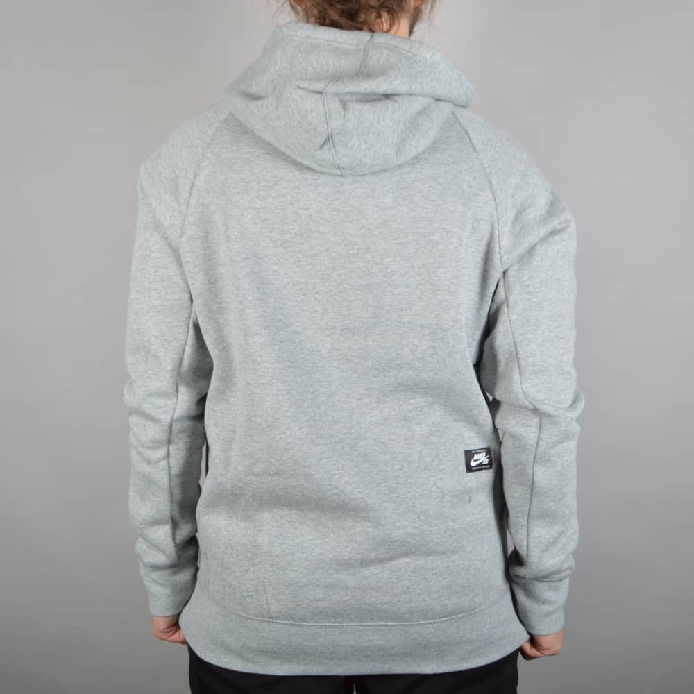 ac503085d Nike SB Icon Pullover Hooded Top - Dark Heather Grey/White - SKATE ...