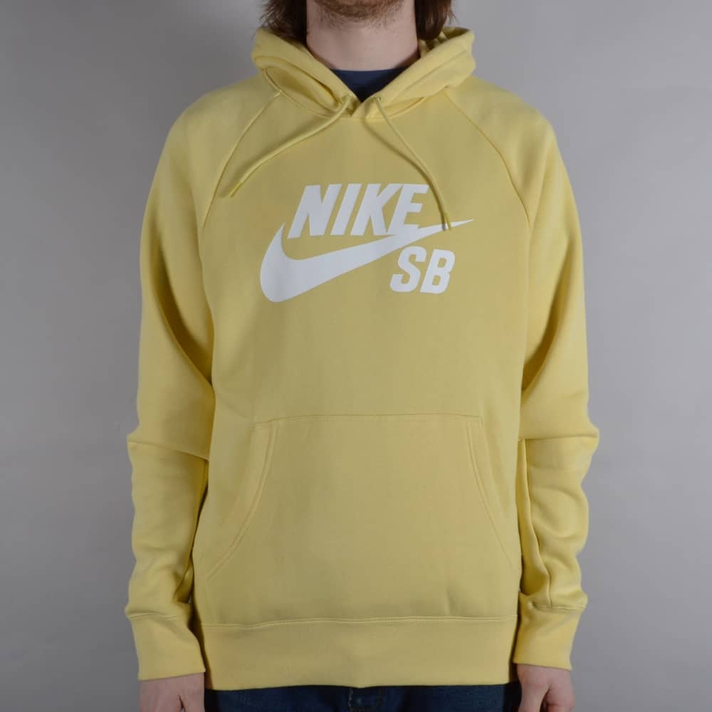 Nike SB Icon Pullover Hoodie - Lemon Wash White - SKATE CLOTHING ... 8802430907a6