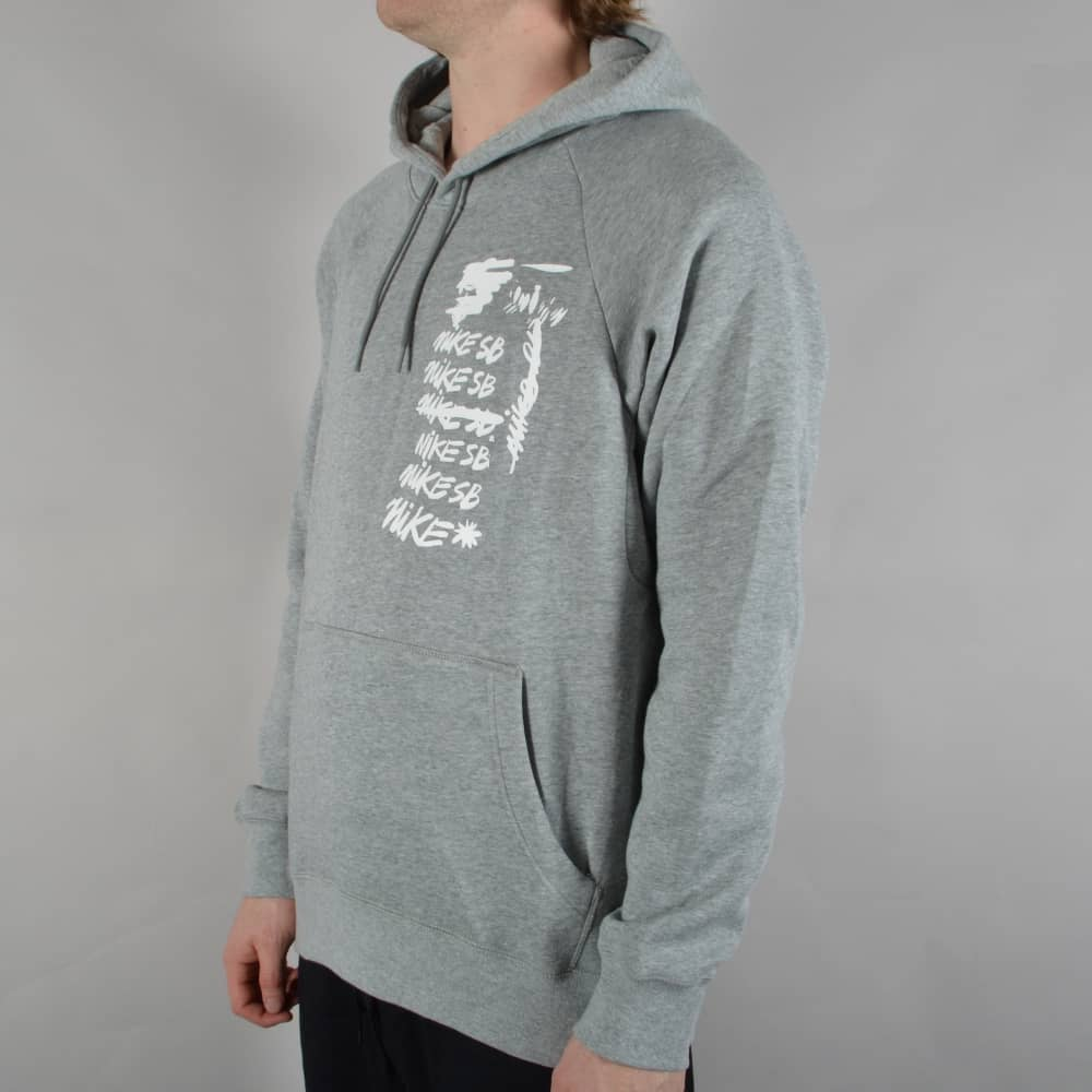 f68ad0d80 Nike SB Icon Scribble Pullover Hoodie - Dark Grey Heather/White ...