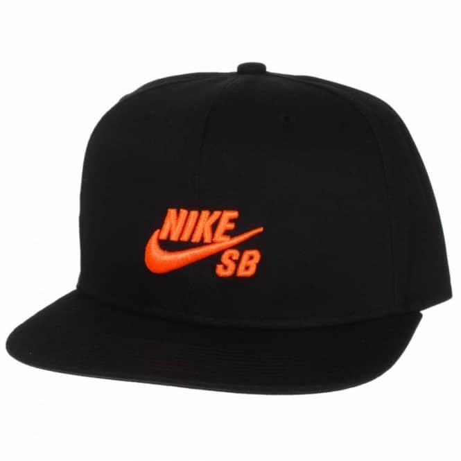 5a58510455d83 Nike SB Icon Snapback Cap - Black Orange - Caps from Native Skate ...