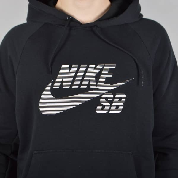 nike sb icon stripe pullover hoodie black nike sb from. Black Bedroom Furniture Sets. Home Design Ideas