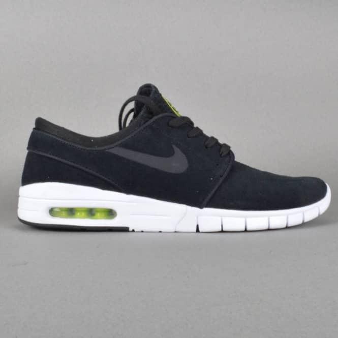 san francisco e797b 9d899 Janoski Max L Skate Shoes - Black Black-Cyber-White