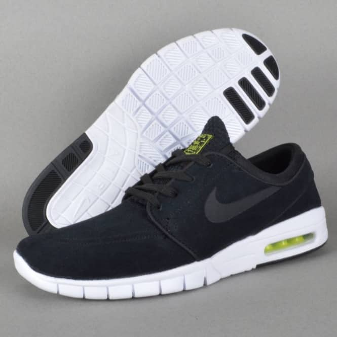 san francisco 4a4b1 db917 Janoski Max L Skate Shoes - Black Black-Cyber-White