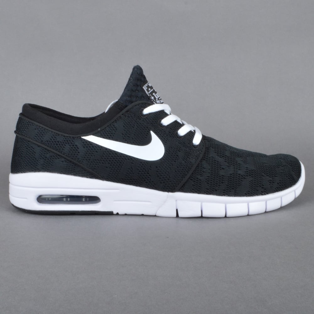 Janoski Max Skate Shoes - Black/White