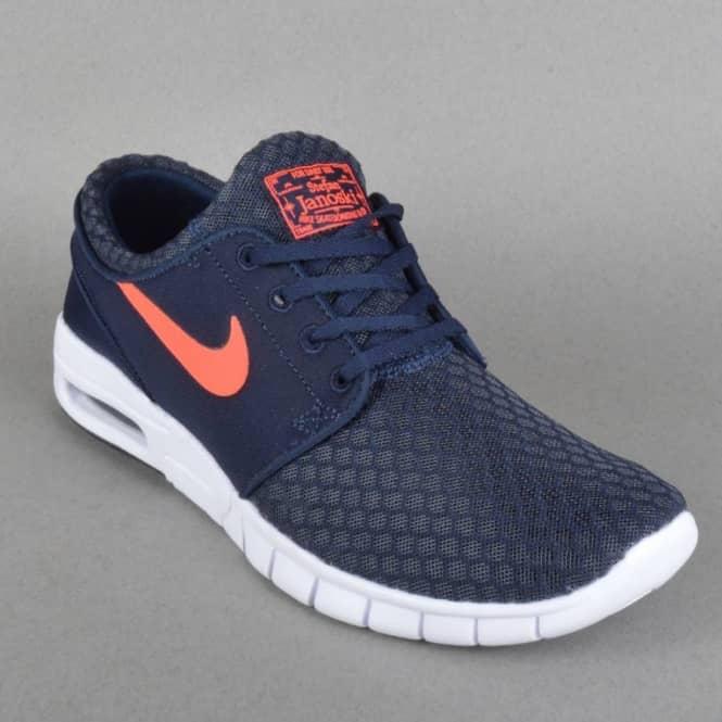 e834b6acbd0f Nike SB Janoski Max Skate Shoes - Obsidian Hot Lava-White - SKATE ...