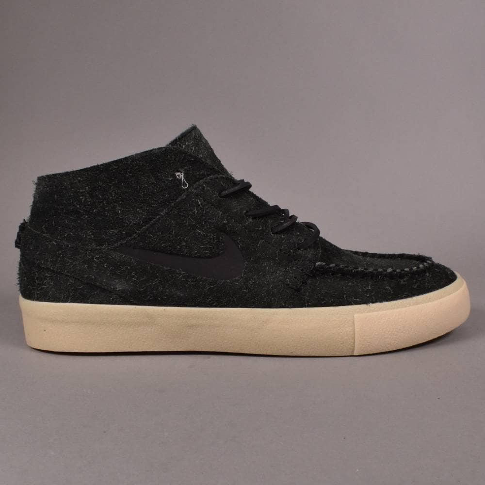 aa3a744fbe Nike SB Janoski Mid RM Crafted Skate Shoes - Black/Black-Golden ...