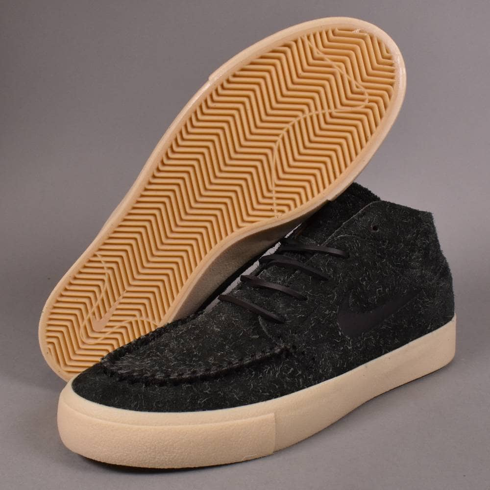 outlet boutique various styles 100% genuine Janoski Mid RM Crafted Skate Shoes - Black/Black-Golden Beige