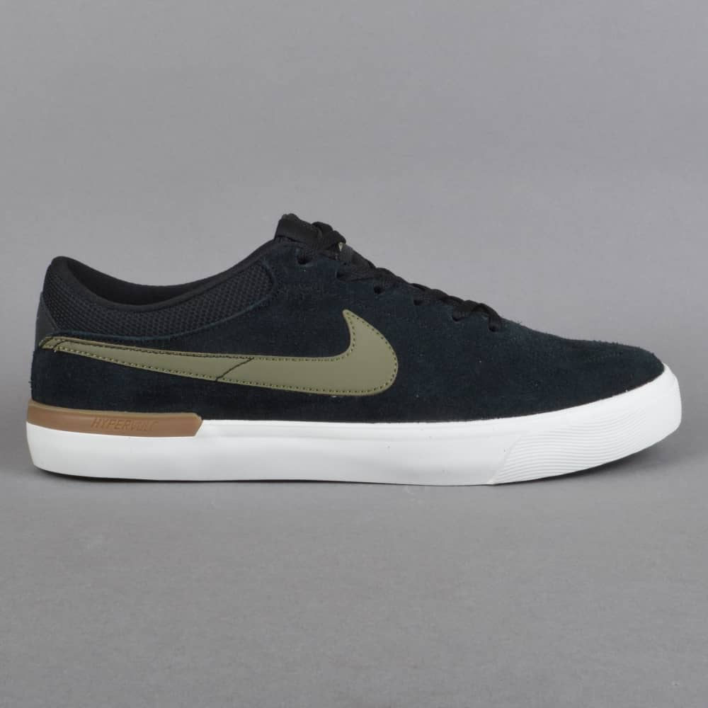 Nike SB Koston Hypervulc Skate Shoes - Black Medium Olive - SKATE ... e9b44808b