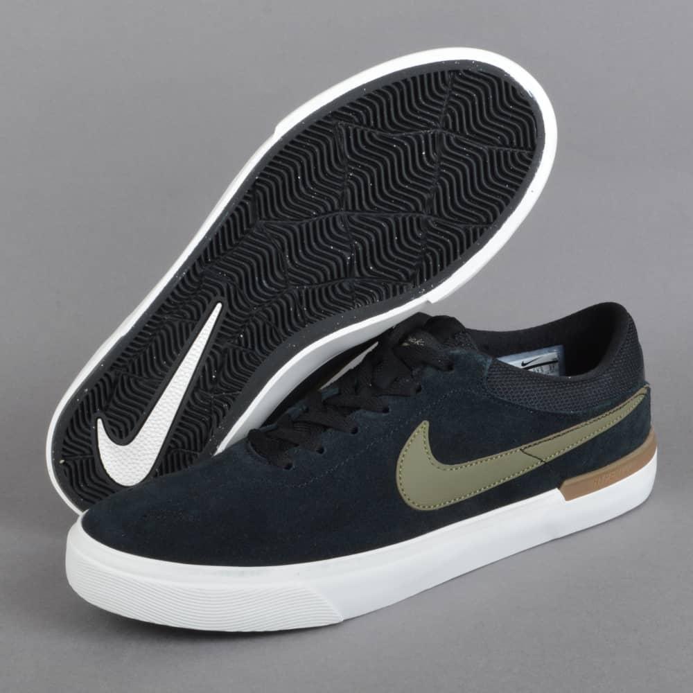 337d25900 Nike SB Koston Hypervulc Skate Shoes - Black Medium Olive - SKATE ...