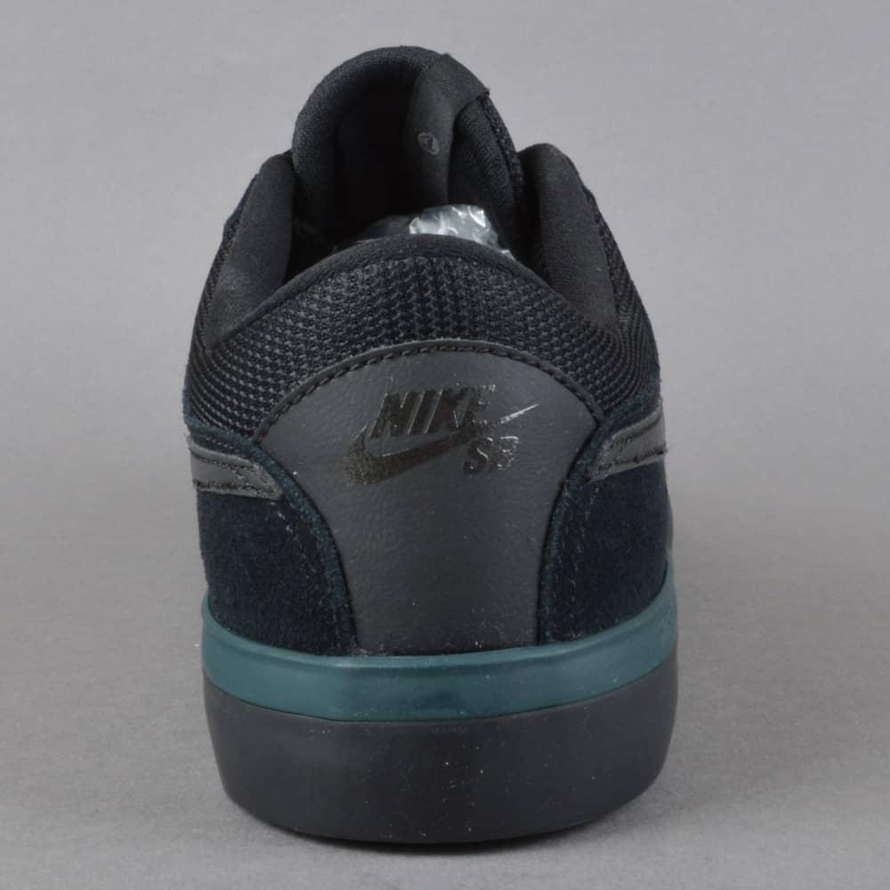 3168318bba1 Nike SB Koston Hypervulc Skate Shoes - Black Metallic Black - SKATE ...