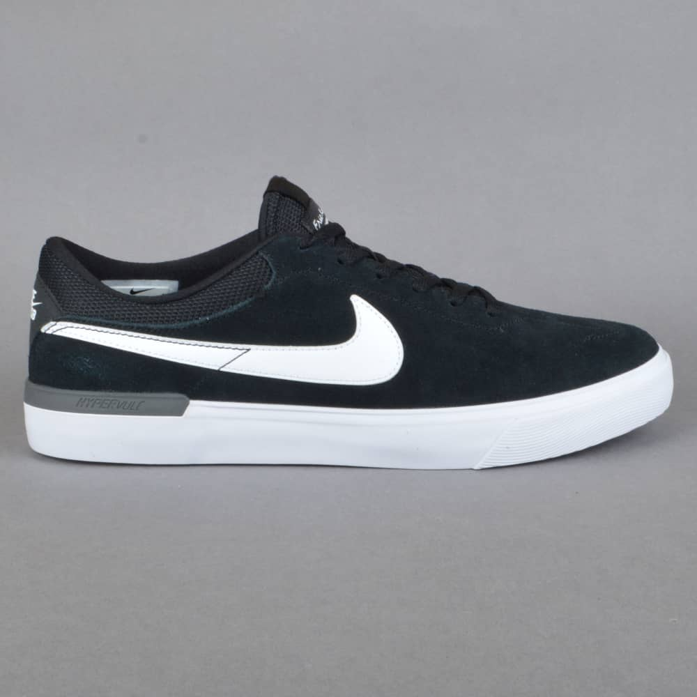 Nike SB Koston Hypervulc Skate Shoes - Black White-Dark Grey - SKATE ... a4d719db9