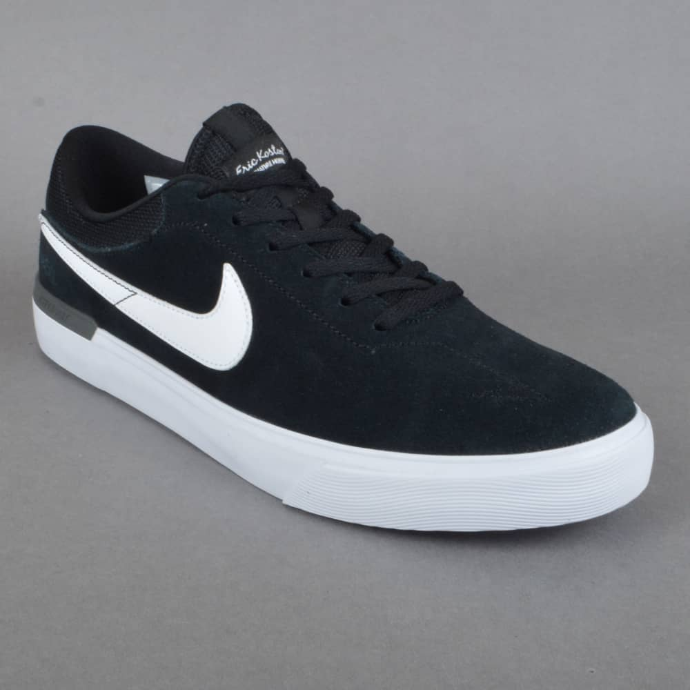 954c10256cd Nike SB Koston Hypervulc Skate Shoes - Black White-Dark Grey - SKATE ...