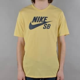 Nike SB Logo Skate T-Shirt - Lemon Wash/Thunder Blue