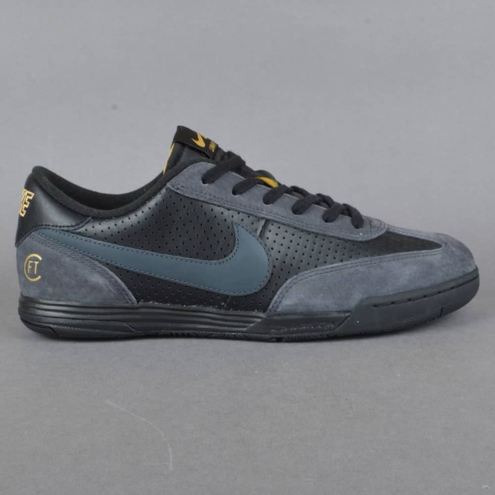 Nike SB Lunar FC FTC Skate Shoes - Black Anthracite-Metallic Gold ... 199ac0652