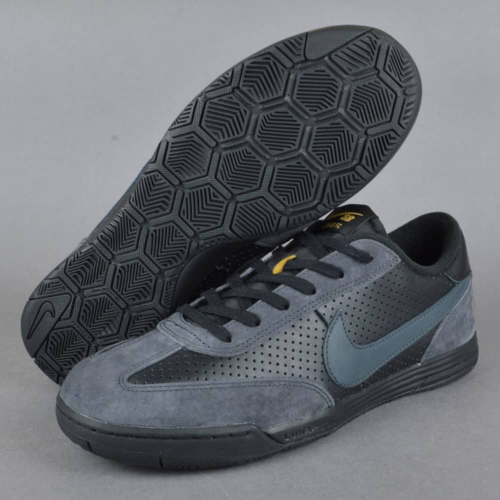 low priced 58490 add42 Lunar FC FTC Skate Shoes - BlackAnthracite-Metallic Gold