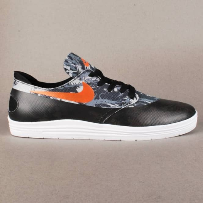 55dfc6037e30 Nike SB Lunar Oneshot SB WC Skate Shoes - Black Safety Orange ...