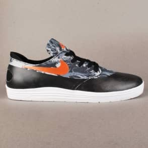Nike SB Lunar Oneshot SB WC Skate Shoes - Black/Safety Orange