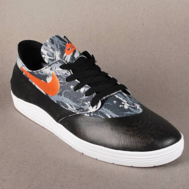 purchase cheap 9aff9 91fbb Lunar Oneshot SB WC Skate Shoes - Black Safety Orange