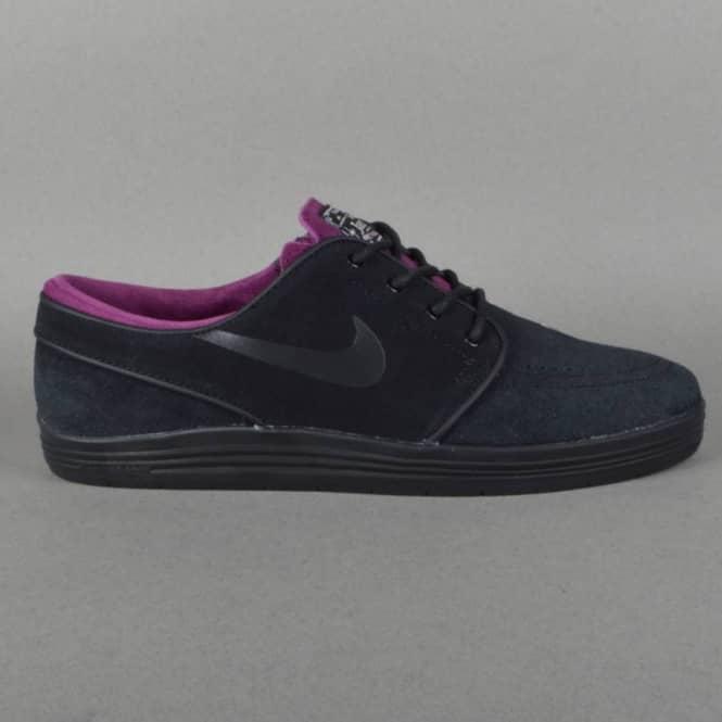 Nike SB Lunar Stefan Janoski Skate Shoes - Black Black-Mulberry ... d0adb77ae9ee