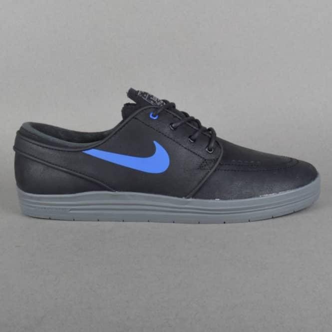 Espere ensayo obtener  Nike SB Lunar Stefan Janoski Skate Shoes - Black/Game Royal-Cool Grey -  SKATE SHOES from Native Skate Store UK