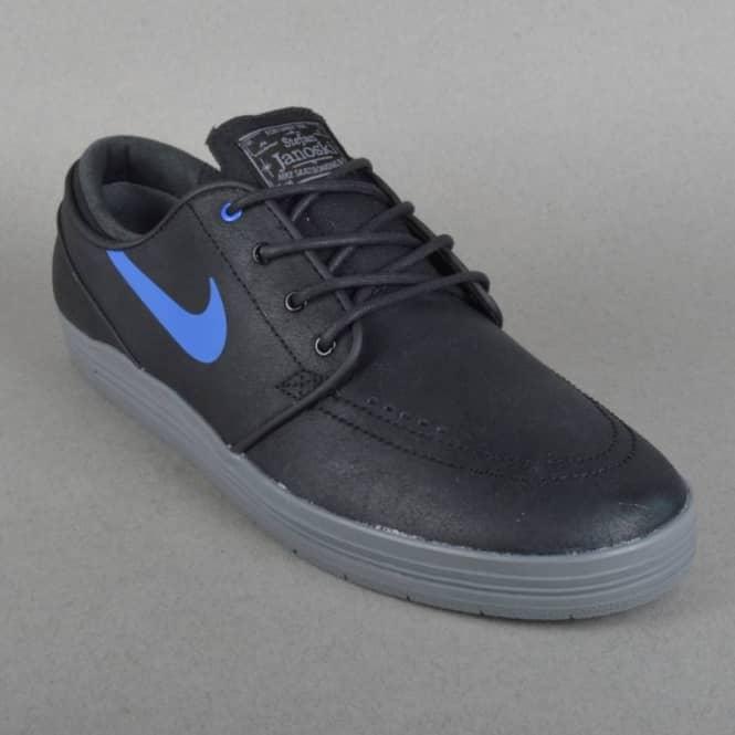98ee74e8f72ce Nike SB Lunar Stefan Janoski Skate Shoes - Black/Game Royal-Cool Grey