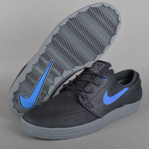 Lunar Stefan Janoski Skate Shoes - Black/Game Royal-Cool Grey