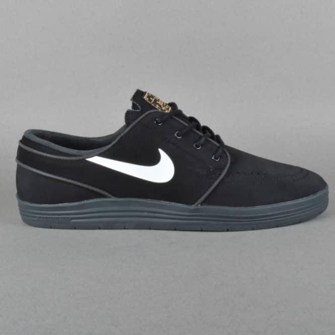 reputable site a4681 efcd9 Lunar Stefan Janoski Skate Shoes - Black White Anthracite