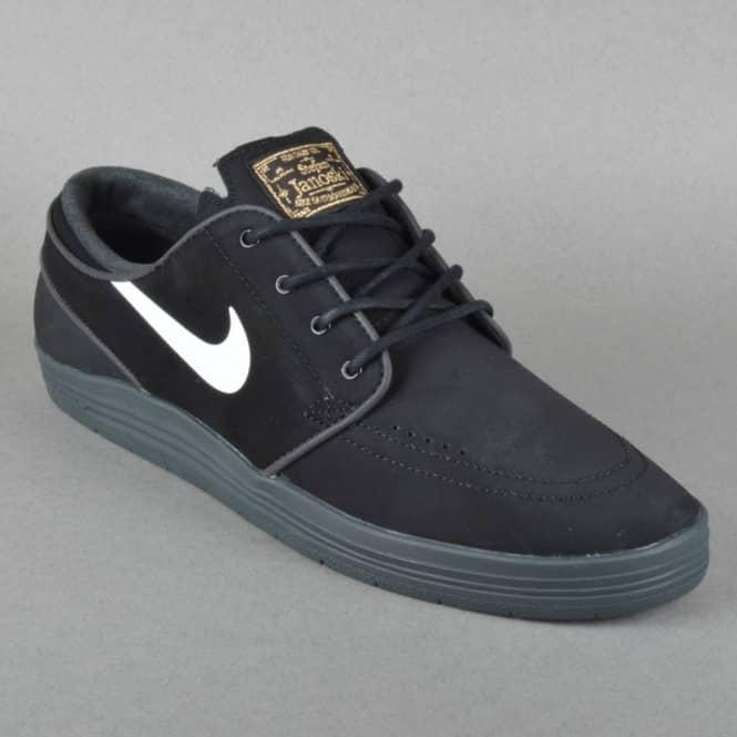 reputable site e406c 5240c Lunar Stefan Janoski Skate Shoes - Black White Anthracite