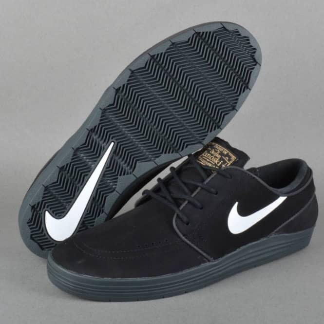 newest 238a6 de45b Lunar Stefan Janoski Skate Shoes - BlackWhiteAnthracite