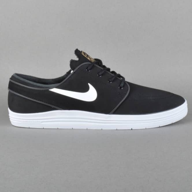 best website ab146 458b4 Lunar Stefan Janoski Skate Shoes - Black White Metallic Gold