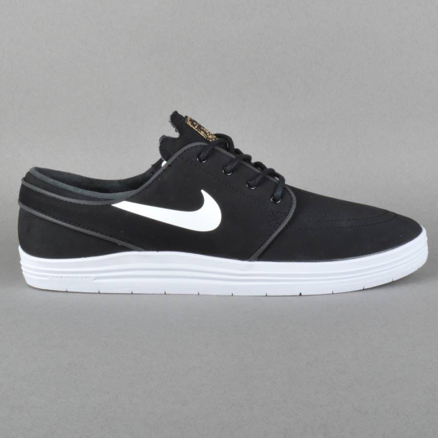 nike sb lunar stefan janoski skate shoes black white