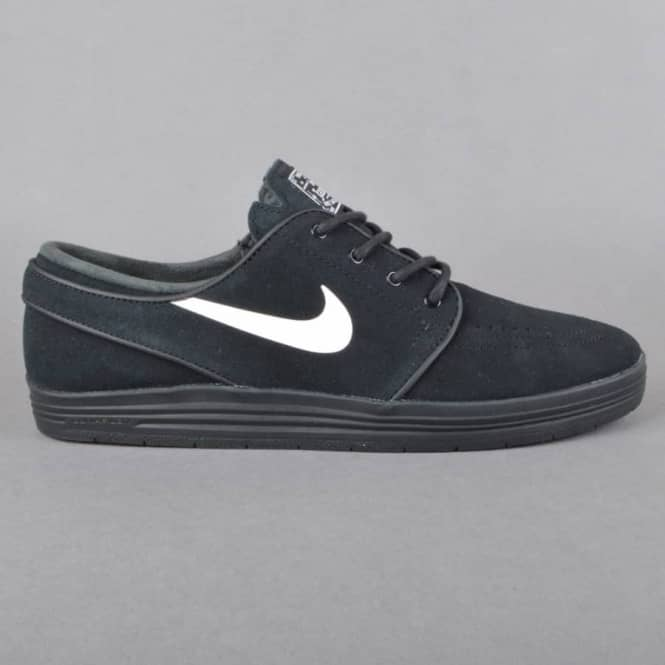 Lunar Stefan Janoski Skate Shoes - Black/White