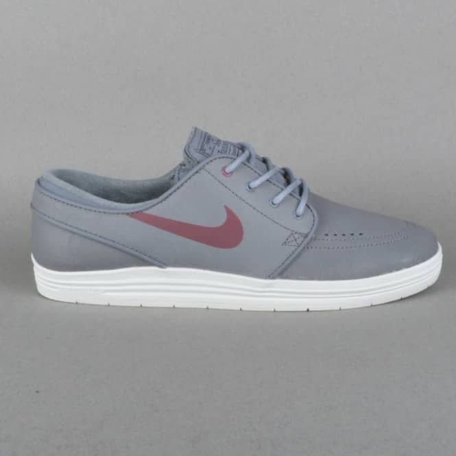 Lunar Stefan Janoski Skate Shoes - Cool Grey/villain Red-Anthracite