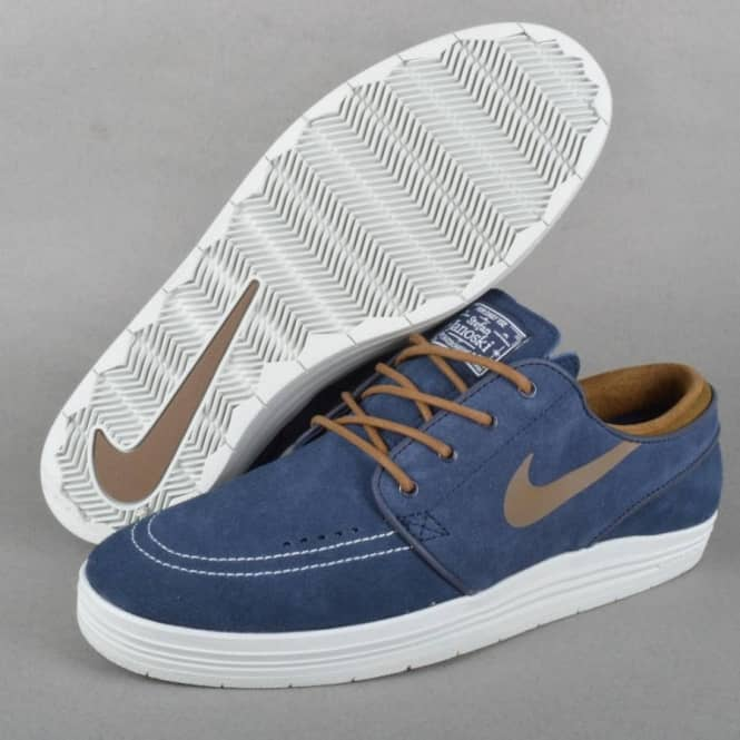 wholesale dealer 9ca14 12f37 Lunar Stefan Janoski Skate Shoes - Obsidian Umber-Summit White