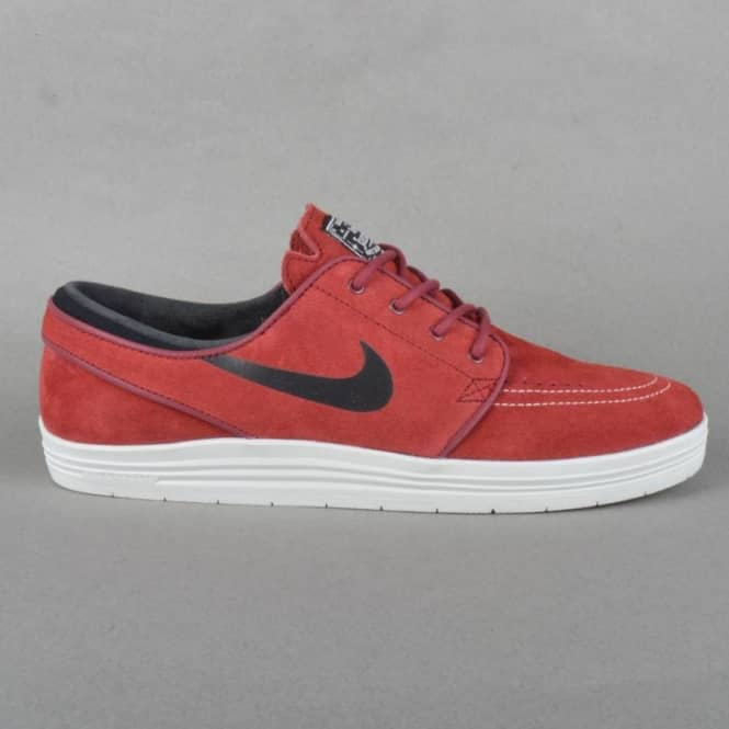 59f8abb0bb55 Nike SB Lunar Stefan Janoski Skate Shoes - Team Red Black-Summit ...