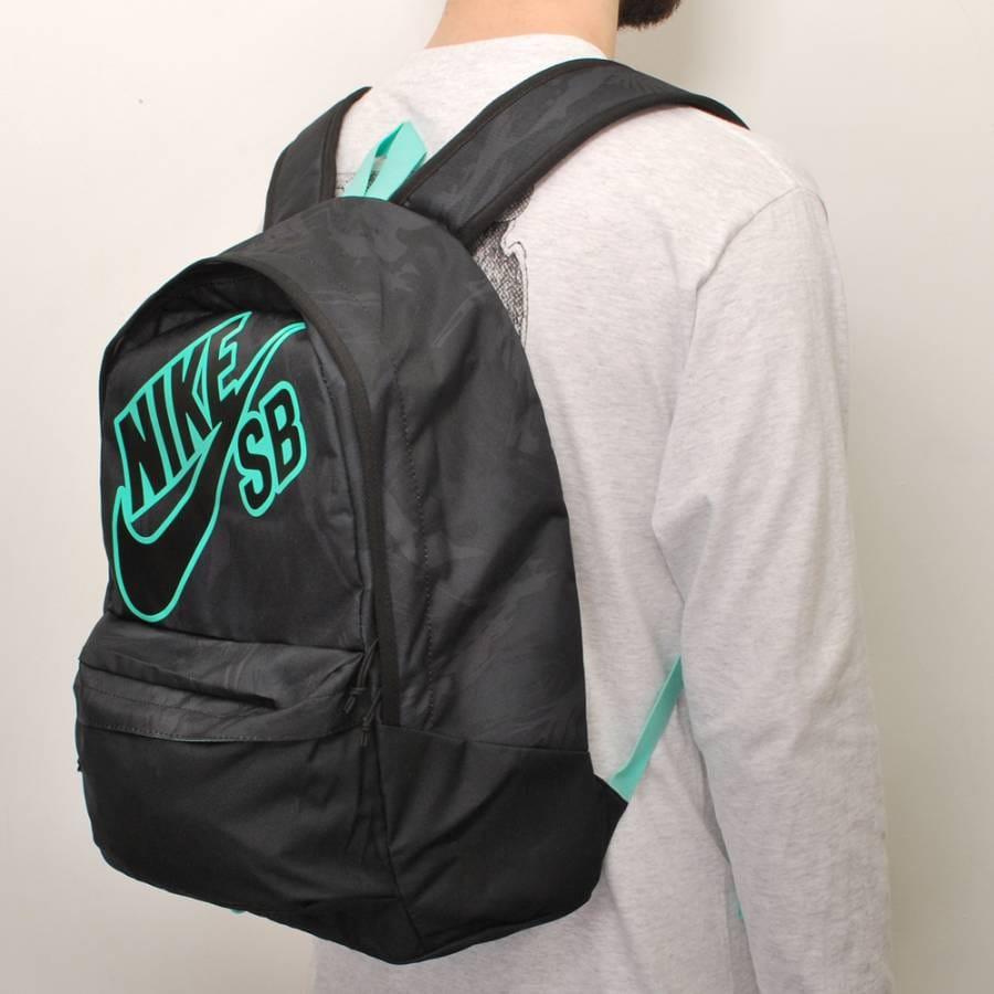 nike sb nike 6 0 piedmont backpack black black mint. Black Bedroom Furniture Sets. Home Design Ideas