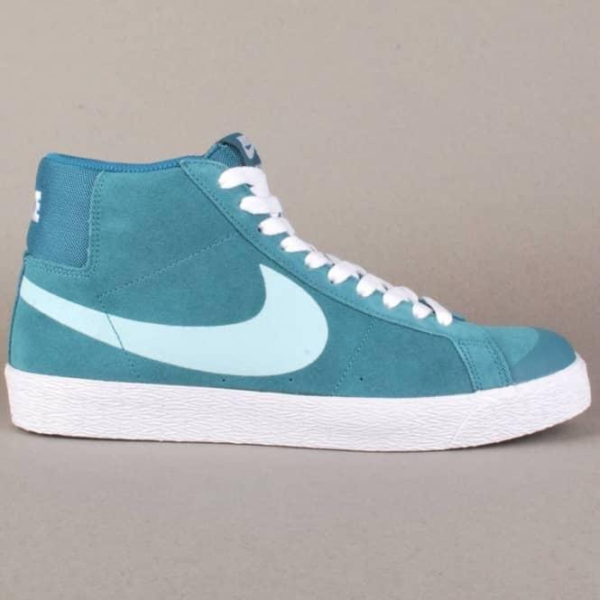 cbf37cbe6431 Nike SB Nike Blazer SB Premium SE Skate Shoes - Night Factor Glacier ...
