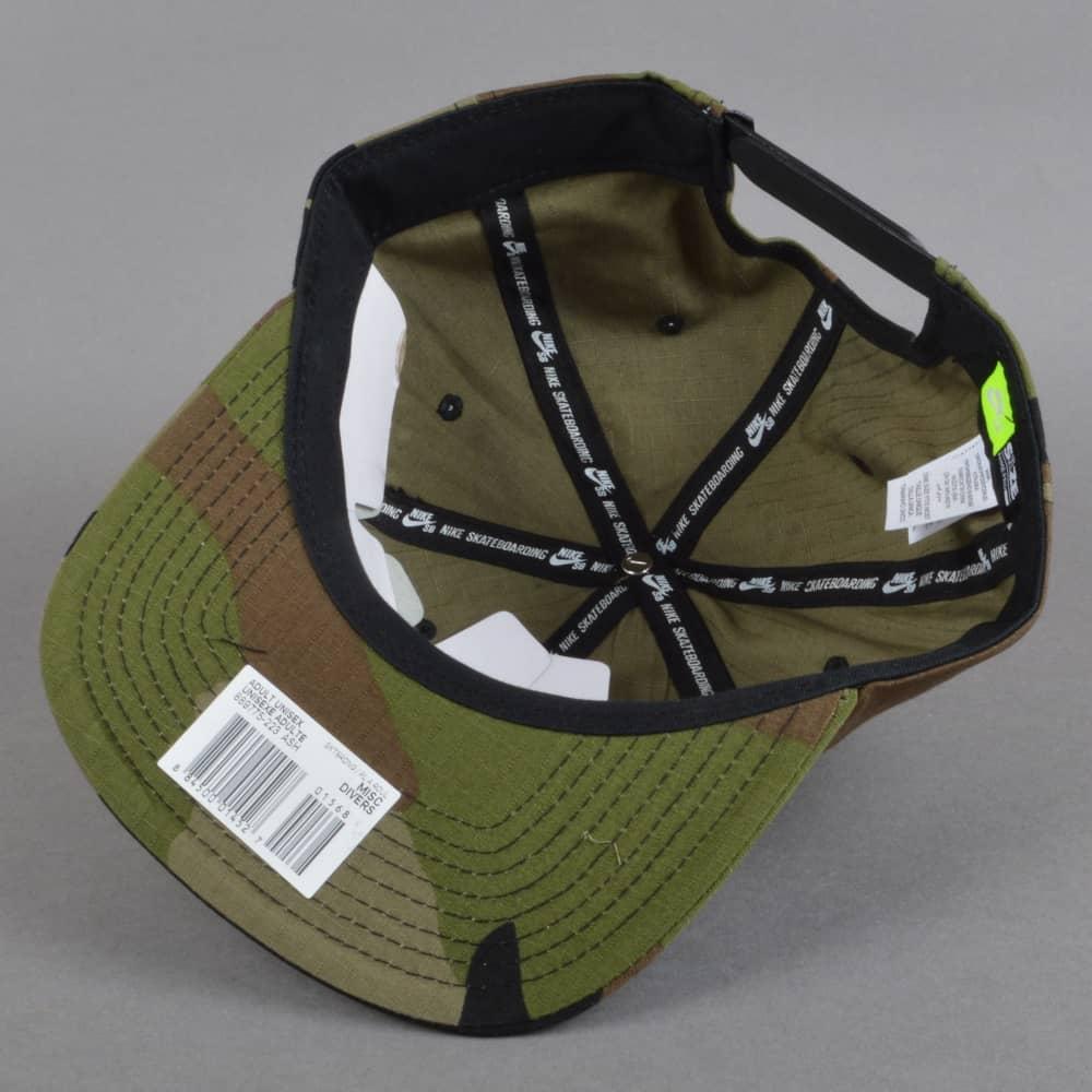 56ff61f4302 Nike SB Nike Camo Cap - Medium Olive Medium Olive - SKATE CLOTHING ...