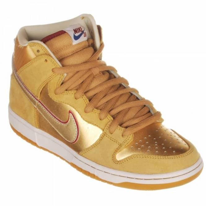 c49edcd7d09d Nike SB Nike Dunk High Premium SB Mettallic Gold Team Red  Koston ...
