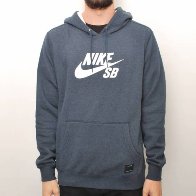 25a548296914 Nike SB Nike Foundation Icon Pullover Hoodie - Navy White - Hooded ...