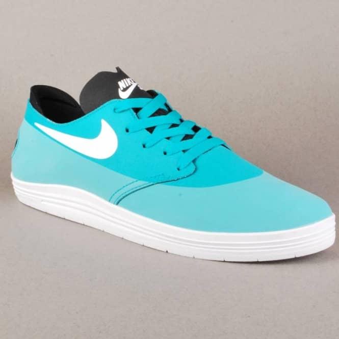 wholesale dealer 2edd0 267a8 Nike Lunar Oneshot Skate Shoes - Turbo Green White-Black