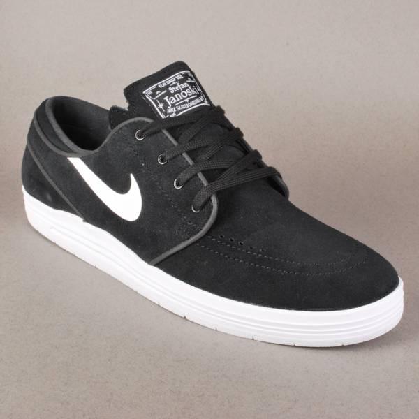 nike sb nike lunar stefan janoski skate shoes black. Black Bedroom Furniture Sets. Home Design Ideas