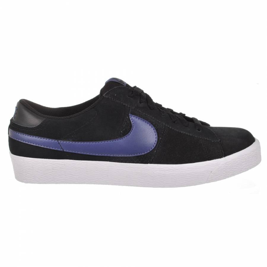 nike sb nike sb blazer low sb black blue recall skate